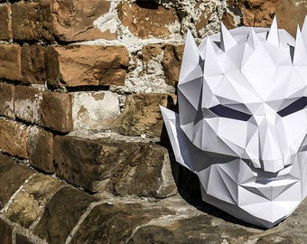 White Walker Night King Mask DIY inspired by Game of Thrones | Papercraft Mask | Paper Cosplay | Halloween Costume