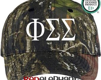 Phi Sigma Sigma Hat, Monogrammed Camo Hat, Monogram Baseball Cap, Monogram Camouflage Hat, Personalize Baseball Hat, Sorority Gift