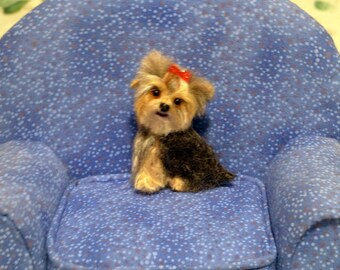 Pet Gift Custom Portrait of Your Pet by Gourmet Felted / Needle Felted Yorkie