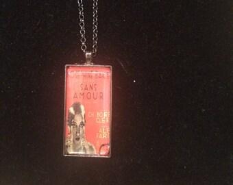 Josephine Baker Sans Amour Oblong Pendant Necklace
