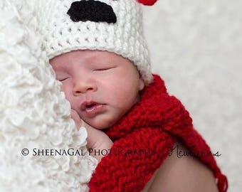 Crocheted Newborn Polar Bear Set