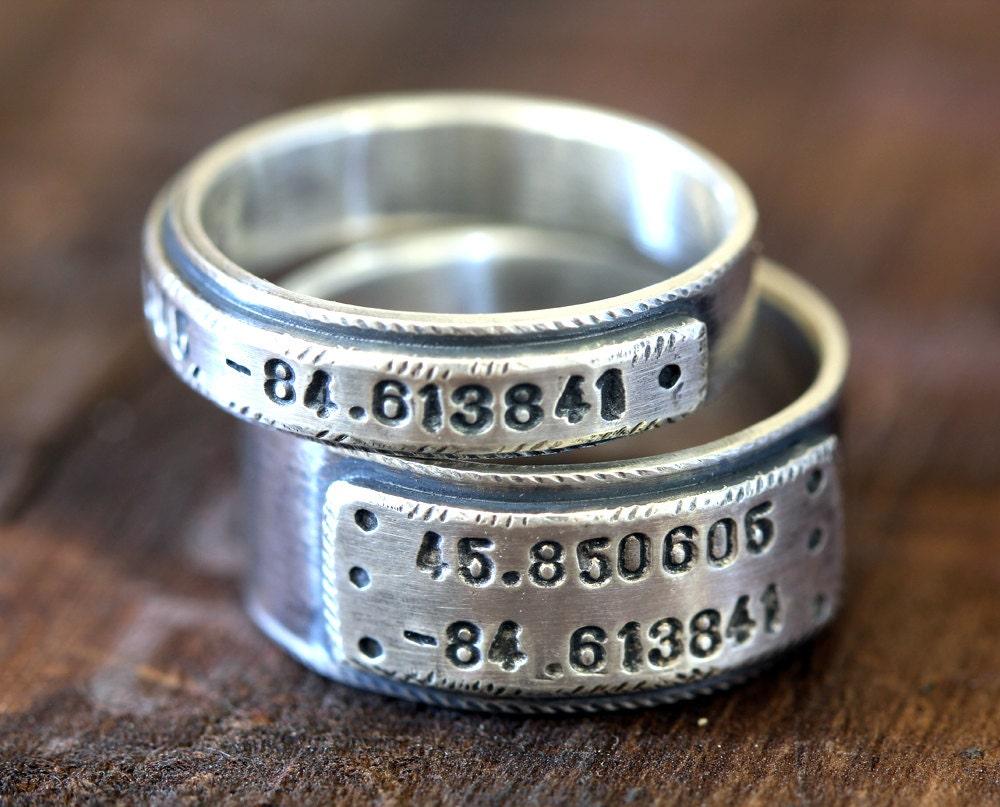 Wedding Ring Set personalized wedding bands E0280