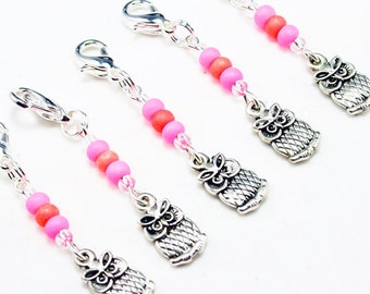 Owl Charm. Harry Potter Fan Charm. Set of Five Beaded Charms. Fun Girls Collectible Charms. BSC036