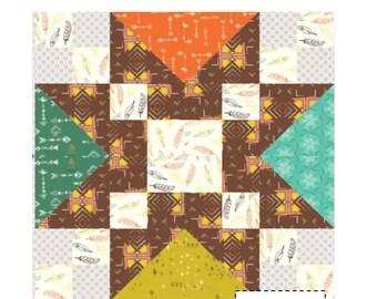Tribal mini quilt pattern - downloadable pdf