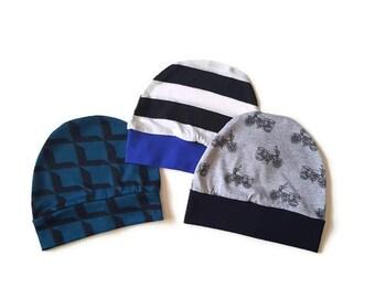 Baby boy beanie, set of beanies, baby hats, new baby hat, infant hat set, baby boy clothes, baby accessories, baby gift