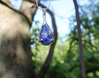 The Goddess - Stirling Silver & Sodalite Pendant