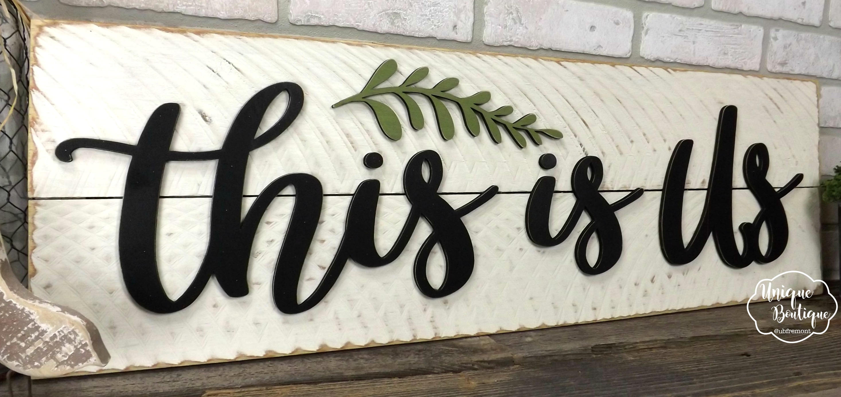 This Is Us Sign Farmhouse Wall Decor Fixer Upper Style