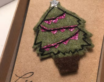 Christmas tree pins for cat lovers