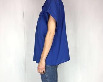 Vintage Oversize Cobalt Blue Shirt XL