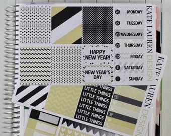 New Years Sticker Kit, NYE Sticker Kit, New Year Planner Kit, New Years Planner Stickers, NYE Stickers
