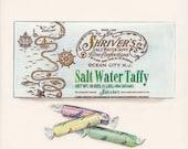 Salt Water Taffy. Original egg tempera illustration from 'The Taste of America' book.