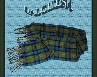 "Dalgliesh 90"" Pure Silk Five Knot Scarf.  Never Worn"