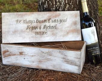 Wedding Ceremony Wine Box - Rustic Wedding - Wine Box - Wine Box Ceremony - Wedding Gift Bridal - Shower Gift - Wine Box Gift - Hammer Shut