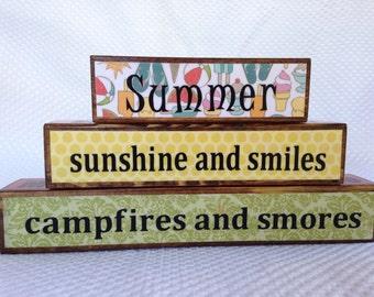 Reversible Holiday Block Stacker: Summer Holidays