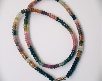 Tourmaline Multi Color Necklace.