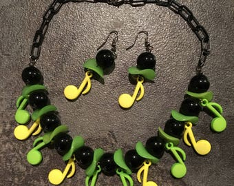 Swingin' music necklace & earring set