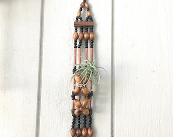 Wood Beads Air Plant Holder