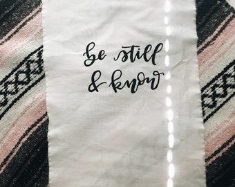 Mini Handpainted Wall Tapestry - Christian Wall Art