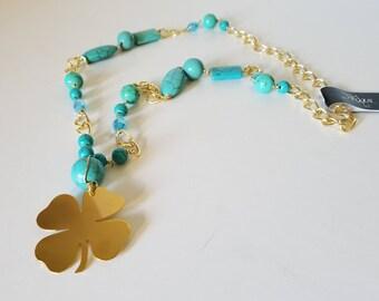 Long clover necklace