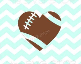 Football Heart-SVG cut file