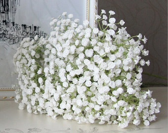 10 Stems 58cm white Babys breath bouquet flowers wedding table centerpieces Beautiful Babys Breath HZMTX