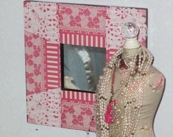 pretty in pink mirror girls room accessories shabby chic mirror - Mirror For Girls Room