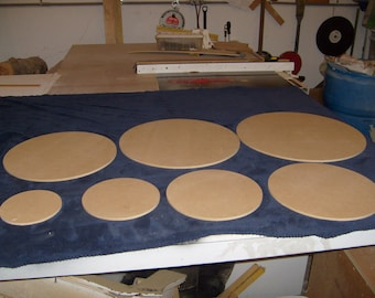 """1/4"""" Thick Round Cake Boards Standard and Custom Sizes Available (Starting at 2.84 each)"""