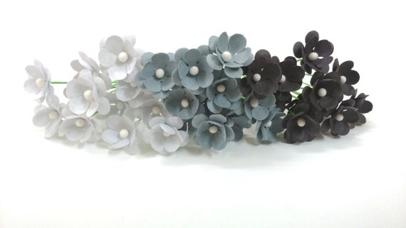 Gray paper flowers grey paper flowers set of 75 small paper gray paper flowers grey paper flowers set of 75 small paper flowers tiny flowers miniature flowers small flowers from happytidings1 on etsy studio mightylinksfo
