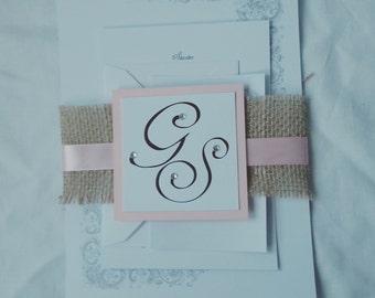 Isla Collection - Hessian wedding invites
