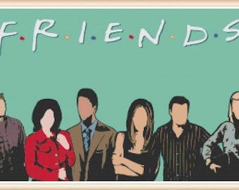 Friends Cross Stitch Pattern - Friends TV Series - PDF Download