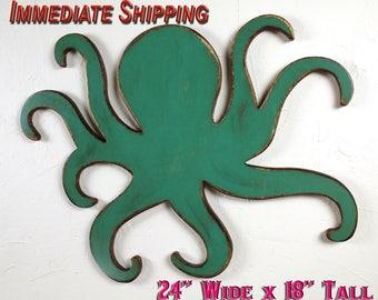 Nautical Theme Decor Nautical Boys Room Beach Decor Octopus Decor Octopus Wall Decor Octopus Wall Hanging Boys Room Decor READY TO SHIP