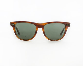 Vintage 1980s RAY-BAN Sunglasses - Wayfarer II Tortoise Shell Bausch & Lomb