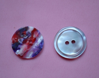 button round fancy purple