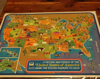 Usa map puzzle game
