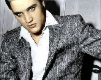 Elvis Presley , Colorized photo of Elvis from the 1950's