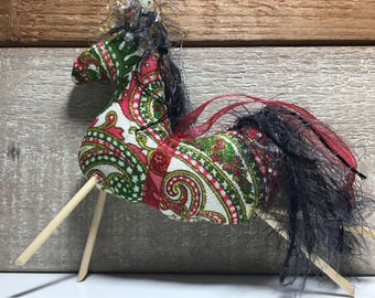 handmade Christmas ornaments - horse ornaments - Christmas horses - horse decorations - tree ornaments - horse lovers gift - novelty horses