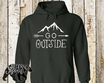 NEW ~ Go Outside Hoody Sweatshirt ~ Available In 8 Colors