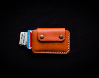 Minimalist wallet / Front pocket wallet / Small leather wallet / Snap wallet / Card holder