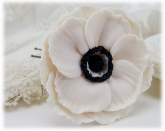 Anemone Hair Clip Pin - Anemone Hair Flower, Anemone Flowers