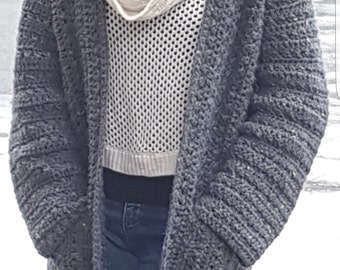 Easy Everywhere Collarless Cardigan Pattern