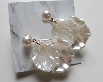 Seashell Earrings Stud Per Set