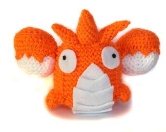 Corphish Pokemon  Cube Handmade Plush