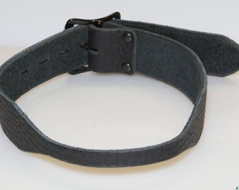 Replacement Straps for Ball Gags,  Tapered Black Bull Hide, 3/8 inch to 1.25 inch