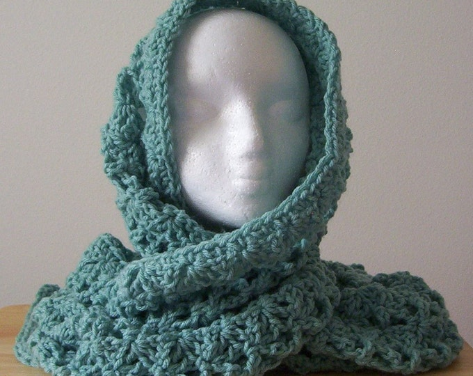 Scarf - Crochet Wrap - Large Shawl - Lace Pattern - Great for Summer Evenings or Anytime