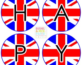 PRINTABLE Union Jack #Banner - #DIY #Digital #Printable #File (instant download)