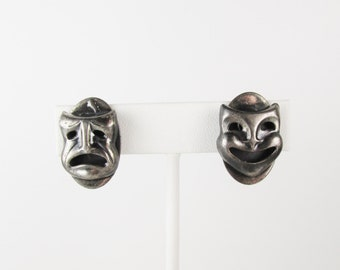 Vintage Earrings: Comedy and Tragedy Masks