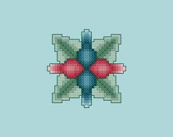 Implosion Cross Stitch Pattern PDF Digital Download