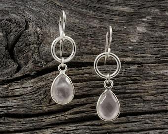 Rose Quartz Spirit Stone Earrings
