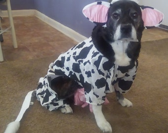 Dog cow costume,Pet cow costume, Dog cow, Dog halloween costume, Dog cow clothes