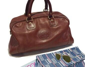 Vintage Leather Bag Ghurka Handbag Carry On Weekender Tote Duffel Bag Shoulder Strap Mens Travel Luggage Womens Duffle Bag Overnighter